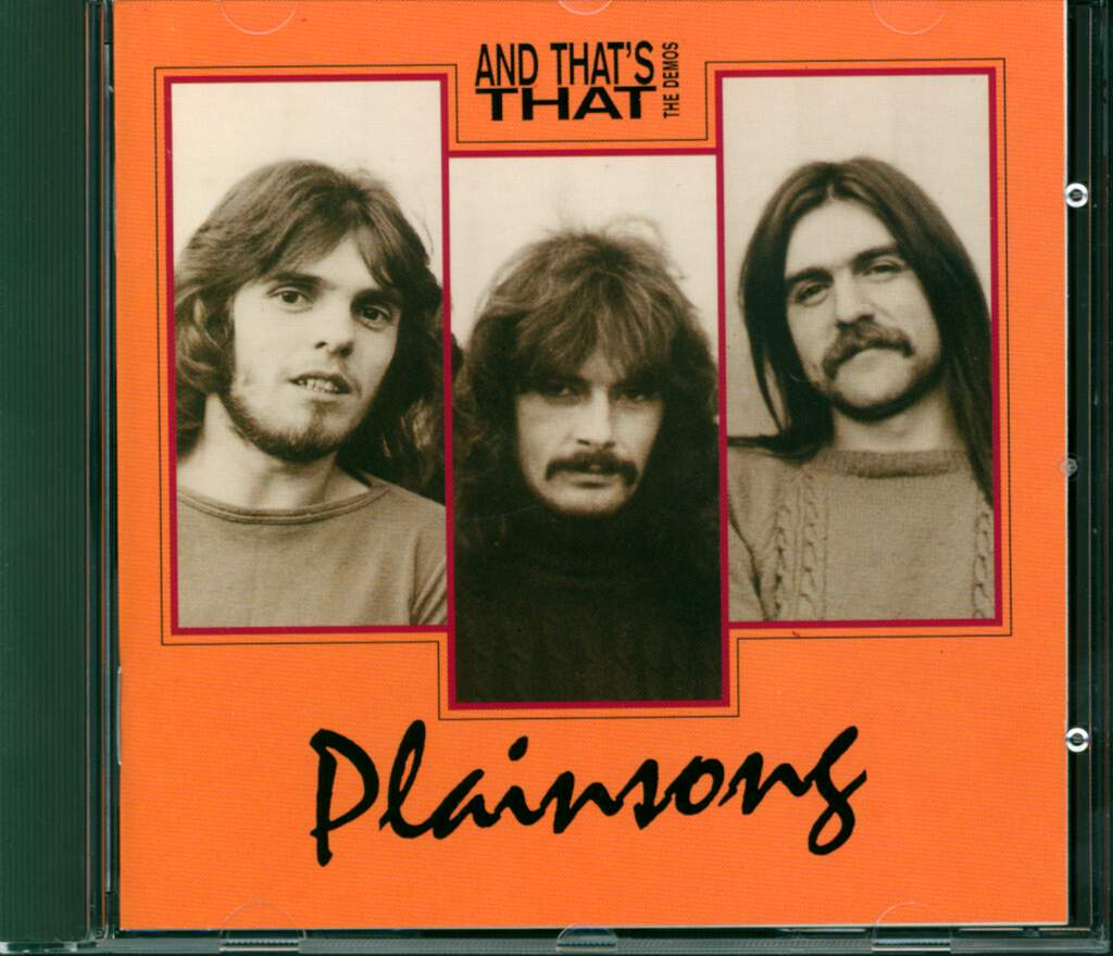 Plainsong: And That's That - The Demos, CD