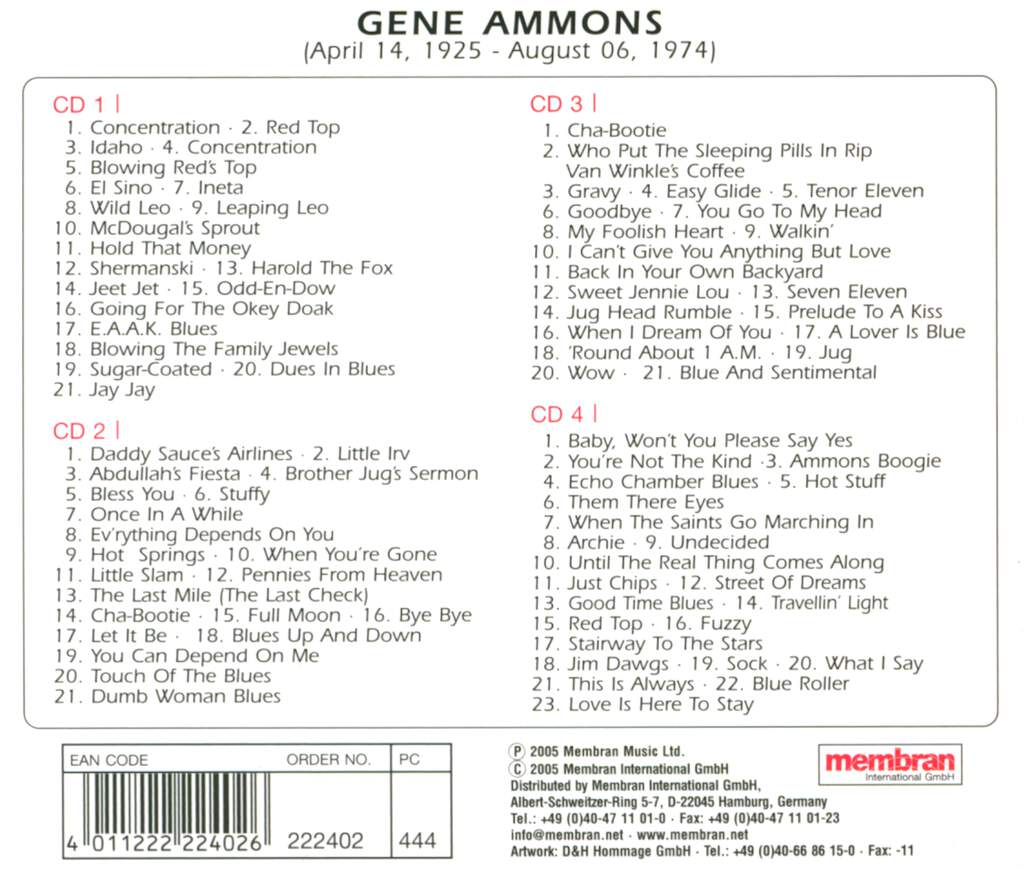 Gene Ammons: You Can Depend On Me, 4×CD