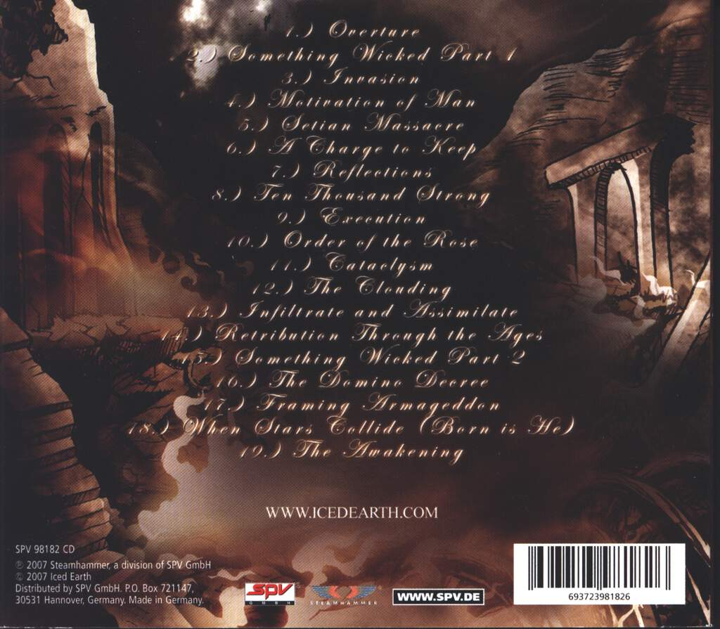 Iced Earth: Framing Armageddon: Something Wicked Part 1, CD