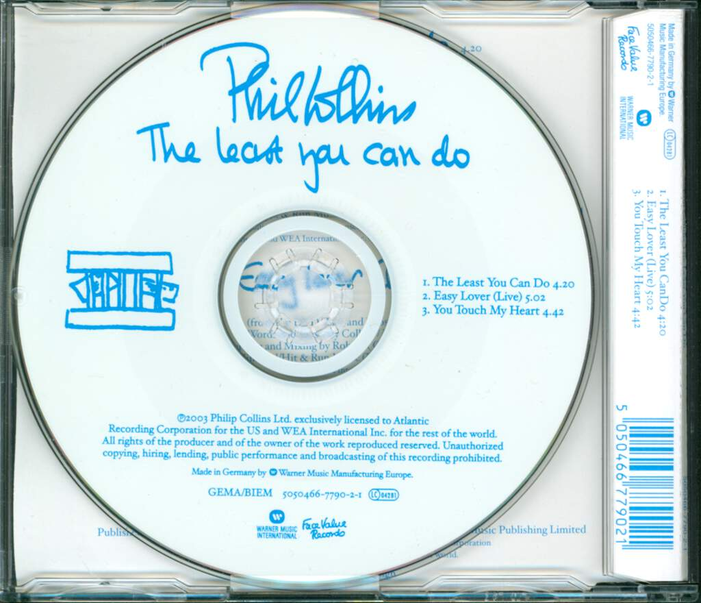 Phil Collins: The Least You Can Do, Mini CD