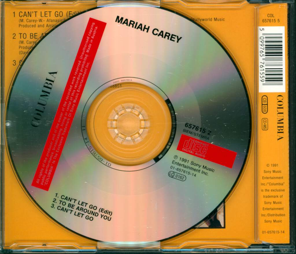 Mariah Carey: Can't Let Go, Mini CD