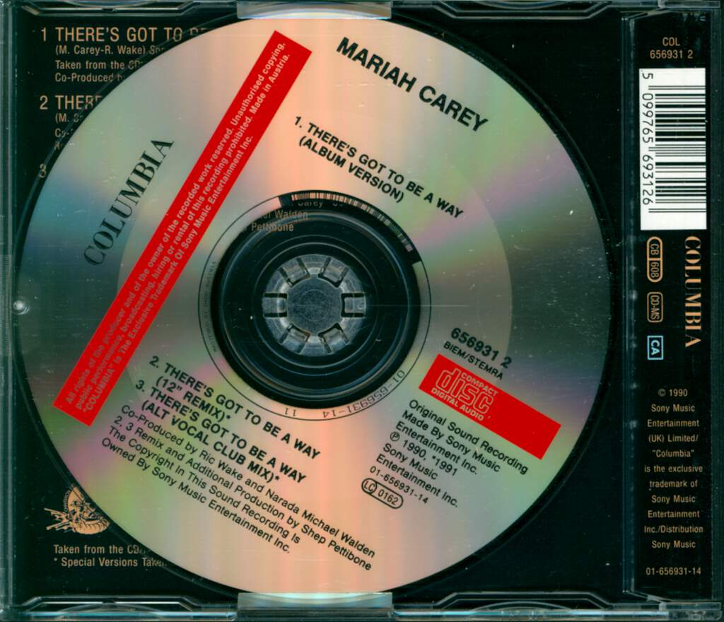 Mariah Carey: There's Got To Be A Way, Mini CD
