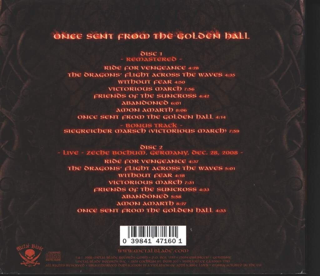 Amon Amarth: Once Sent From The Golden Hall, 2×CD