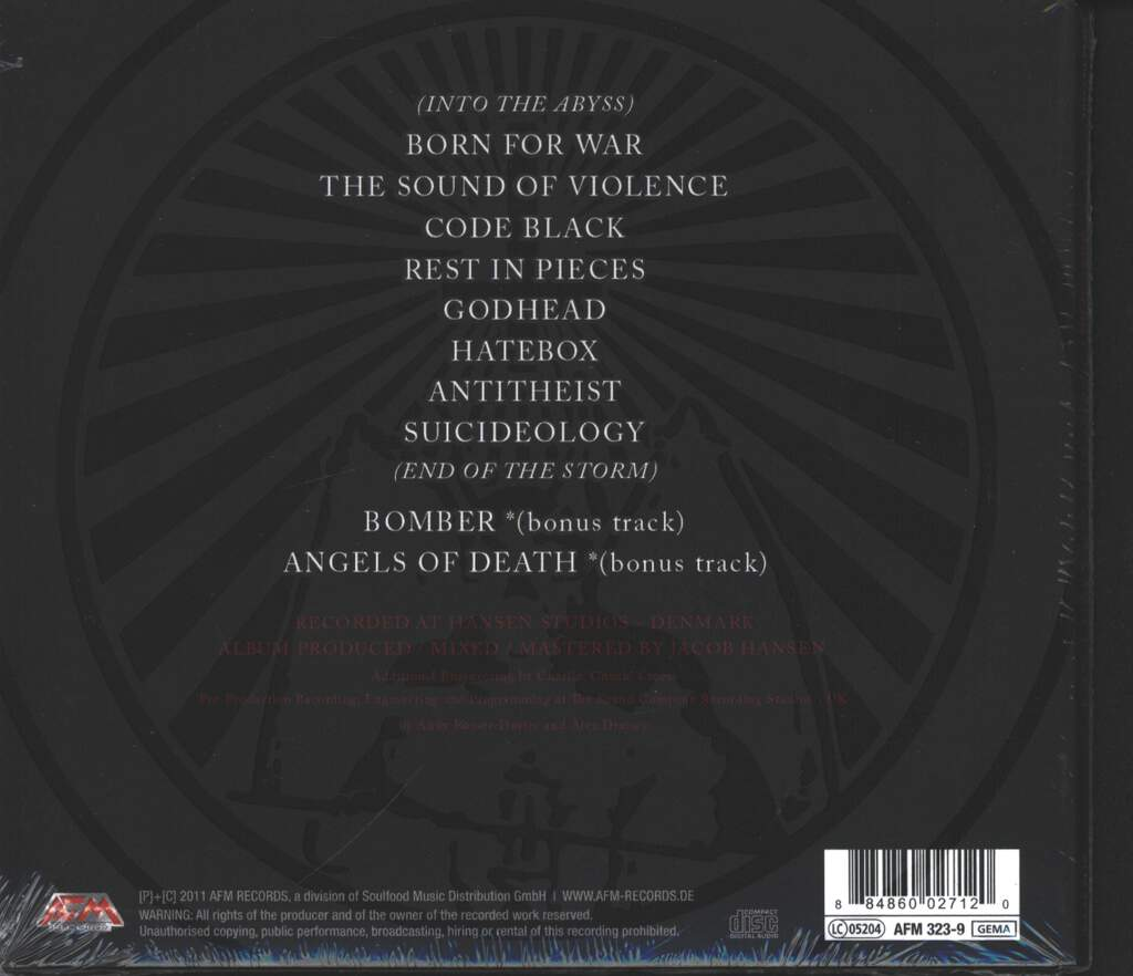 Onslaught: Sounds Of Violence, CD