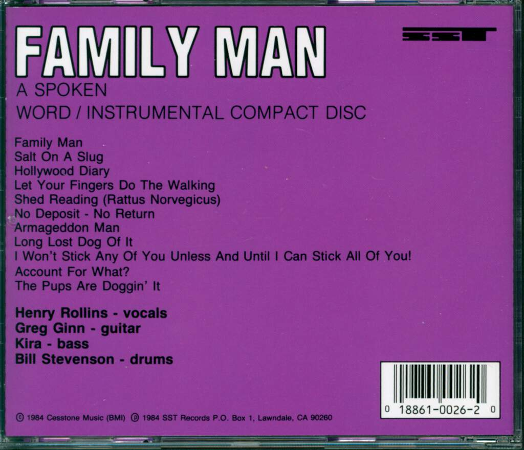 Black Flag: Family Man, CD