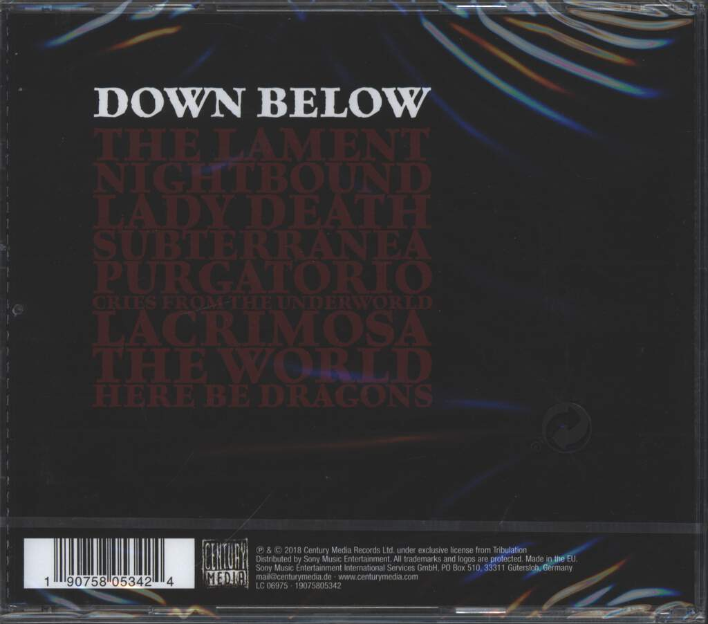 Tribulation: Down Below, CD