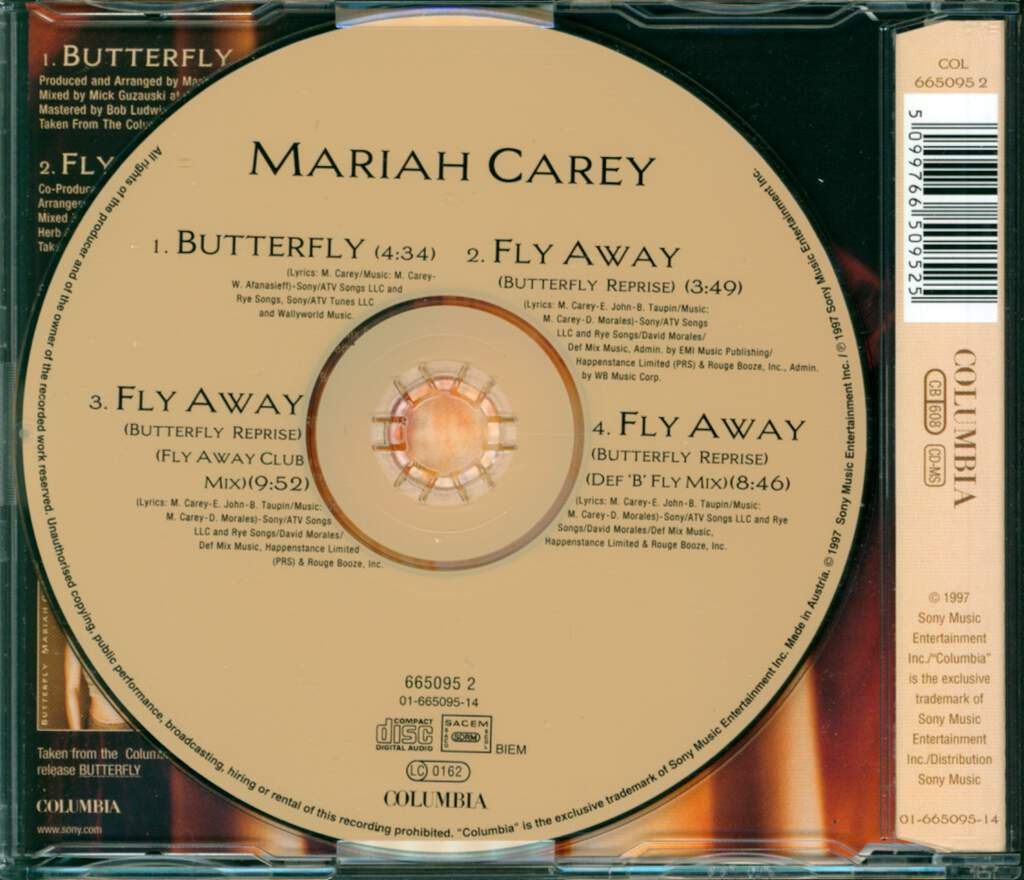 Mariah Carey: Butterfly, Mini CD