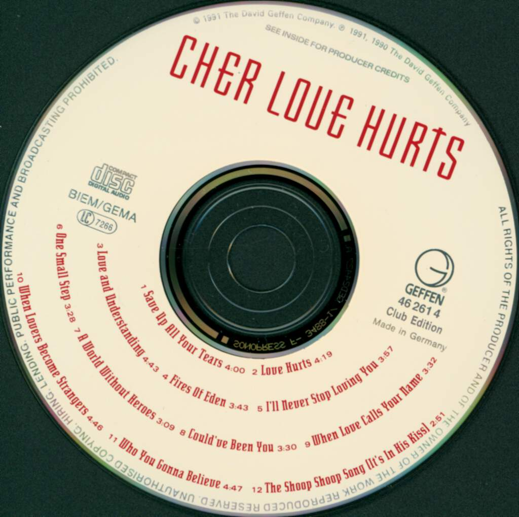 Cher: Love Hurts, CD