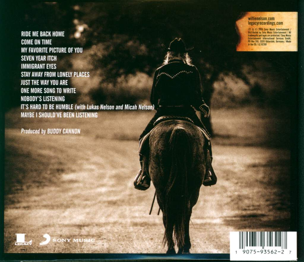 Willie Nelson: Ride Me Back Home, CD