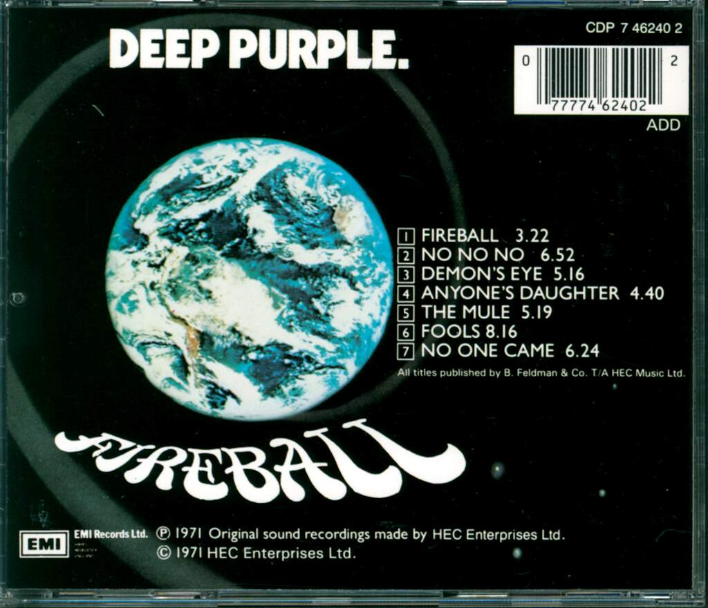 Deep Purple: Fireball, CD