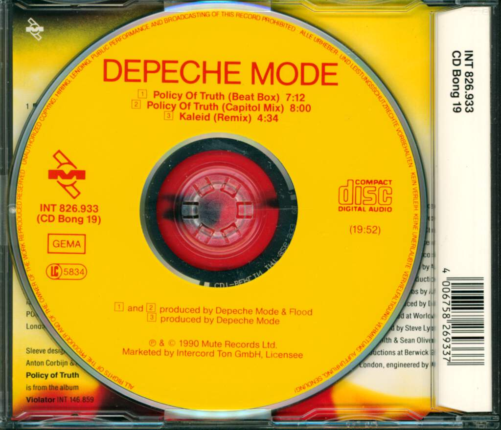 Depeche Mode: Policy Of Truth, Mini CD