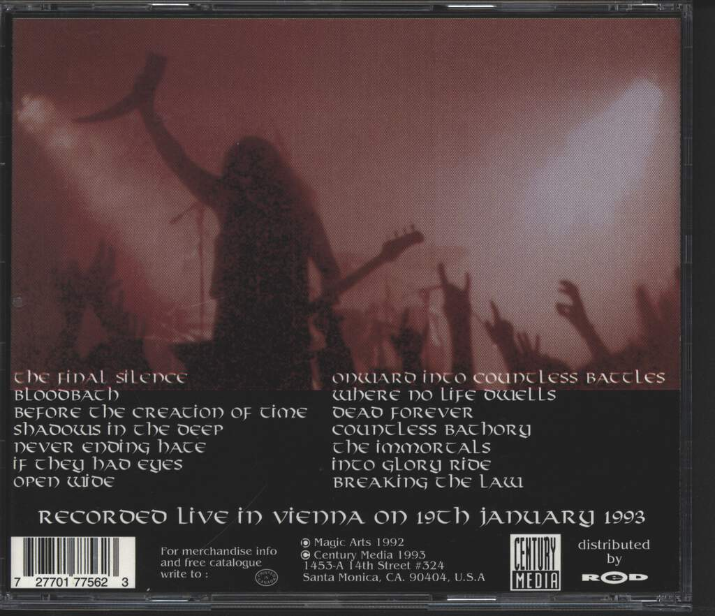 Unleashed: Live In Vienna '93, CD