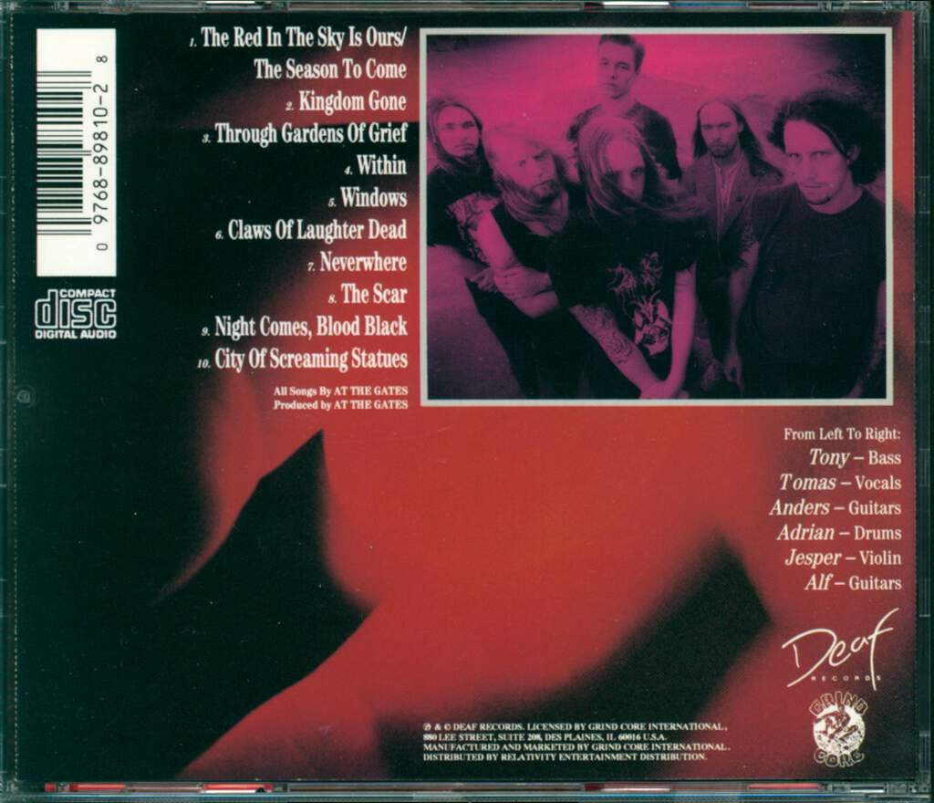 At The Gates: The Red In The Sky Is Ours, CD