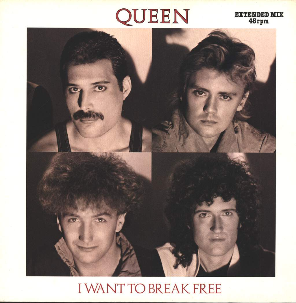 "Queen: I Want To Break Free (Extended Mix), 12"" Maxi Single (Vinyl)"