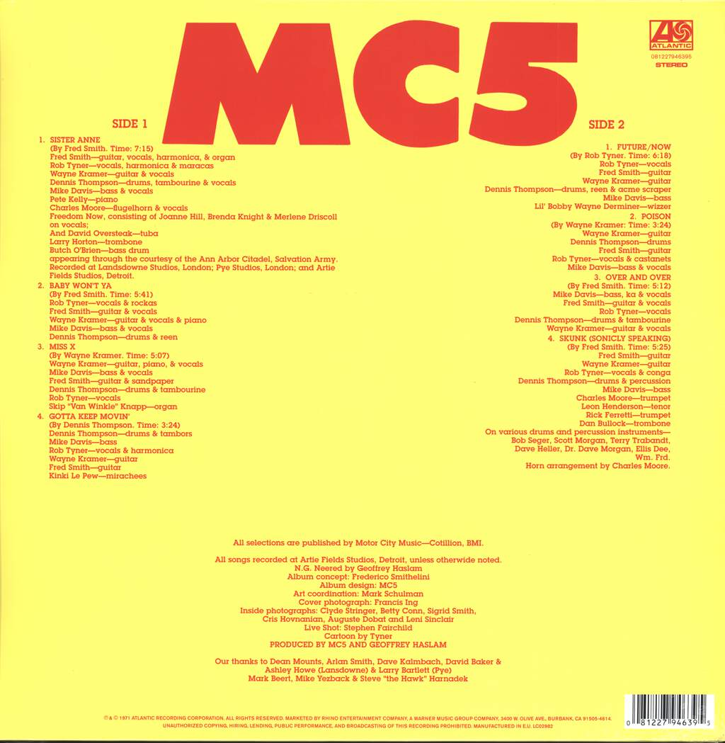 MC5: High Time, LP (Vinyl)