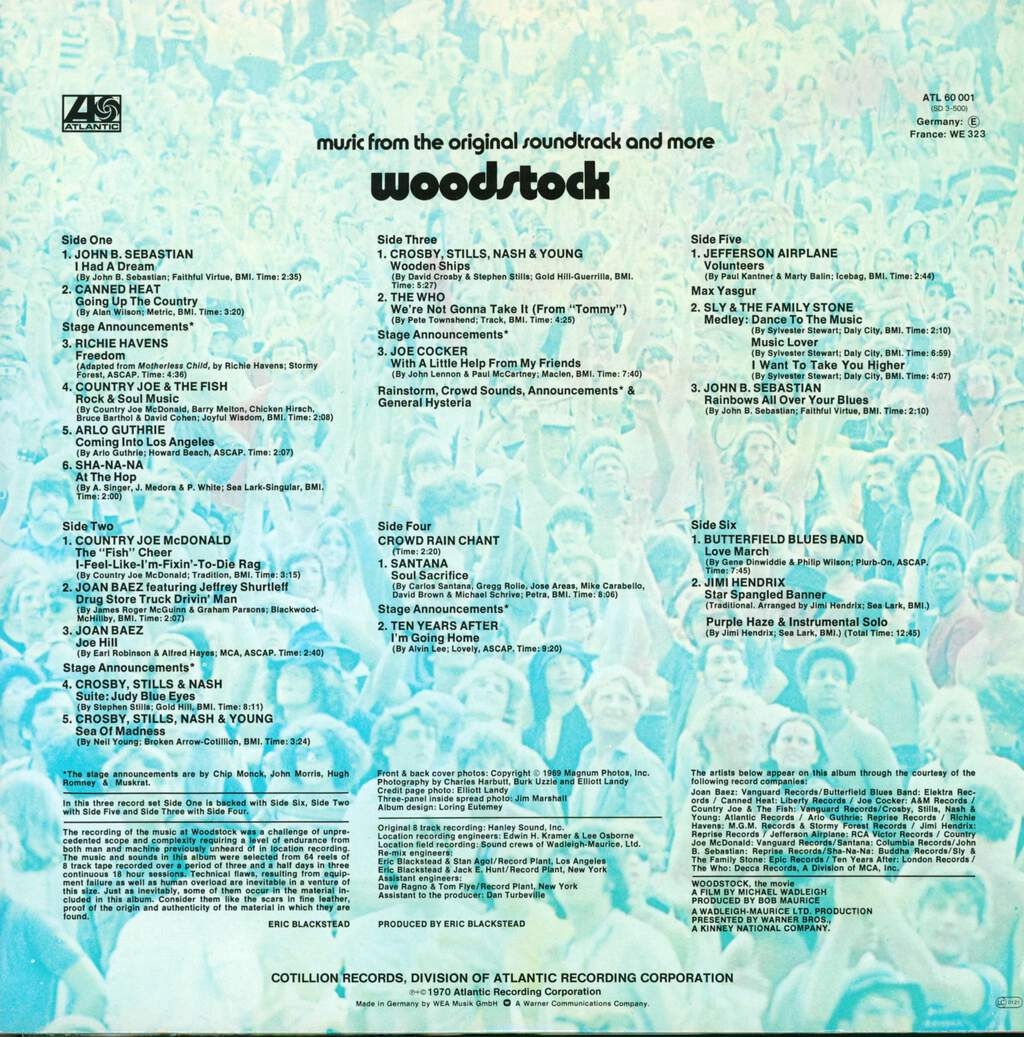 Various: Woodstock - Music From The Original Soundtrack And More, 3×LP (Vinyl)