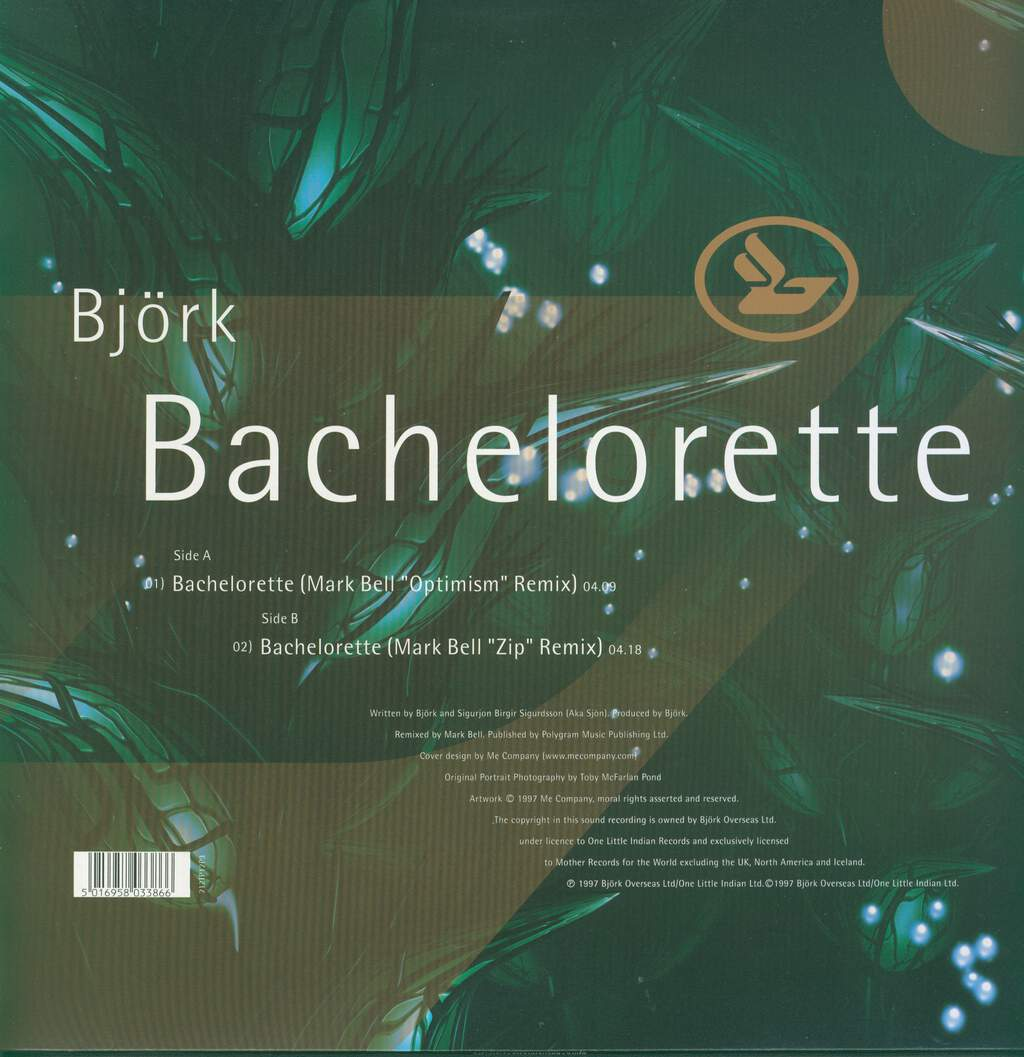 "Björk: Bachelorette, 12"" Maxi Single (Vinyl)"