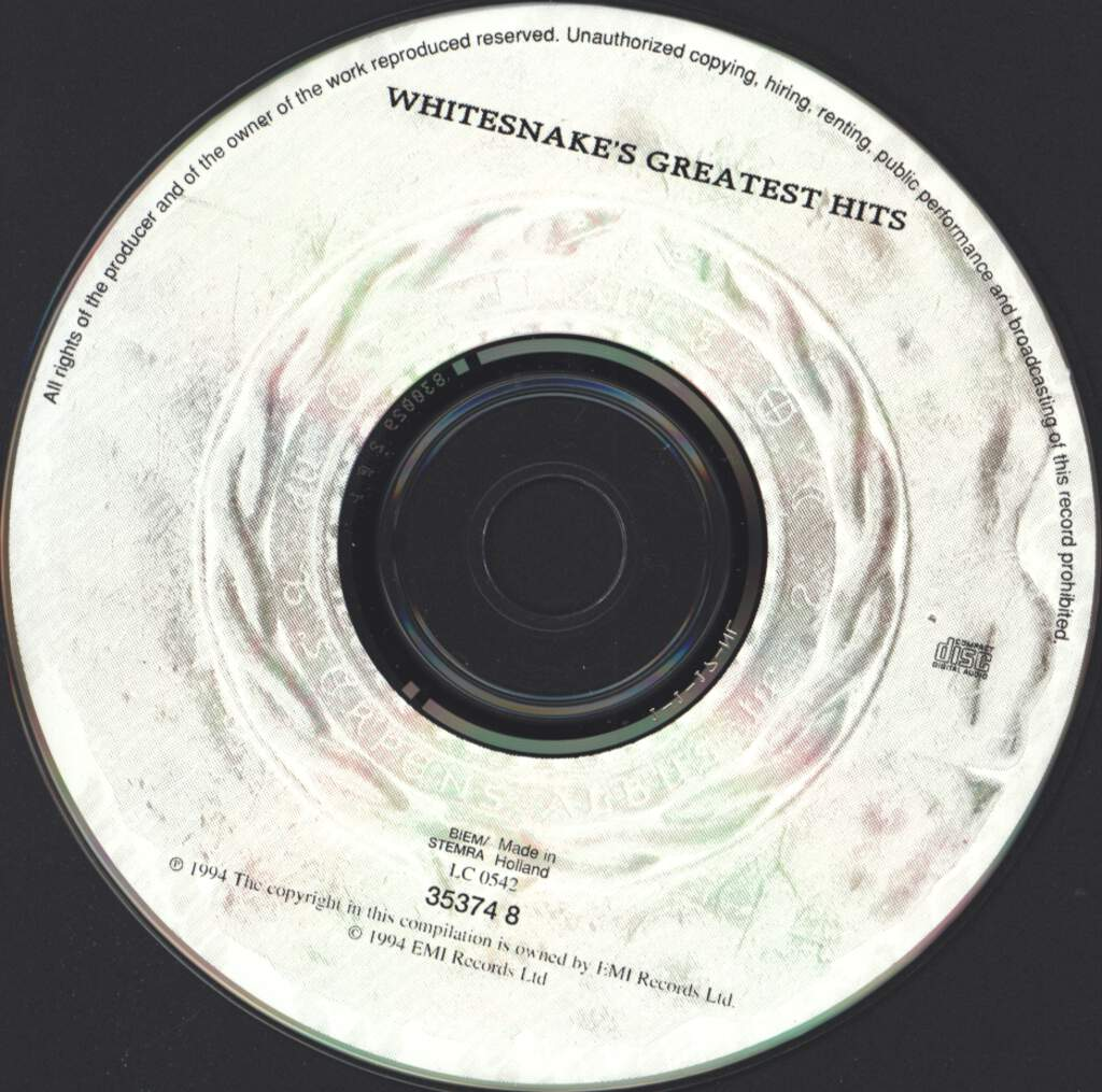 Whitesnake: Greatest Hits, CD