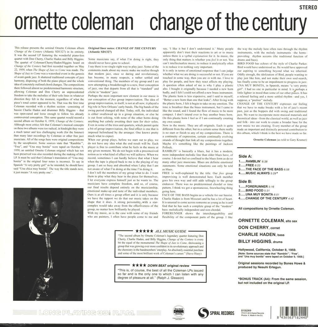 Ornette Coleman: Change Of The Century, LP (Vinyl)