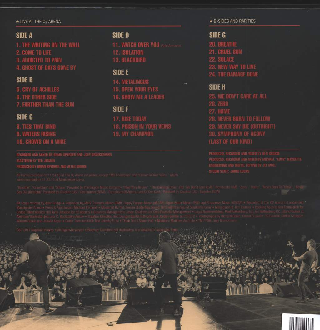 Alter Bridge: Live At The O2 Arena + Rarities, 4×LP (Vinyl)