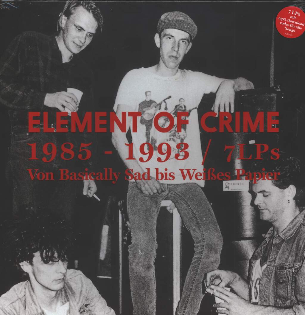Element Of Crime: 1985 - 1993 Von Basically Sad Bis Weißes Papier, 7×LP (Vinyl)