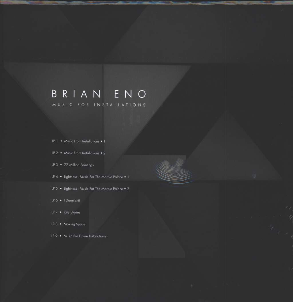Brian Eno: Music For Installations, 9×LP (Vinyl)