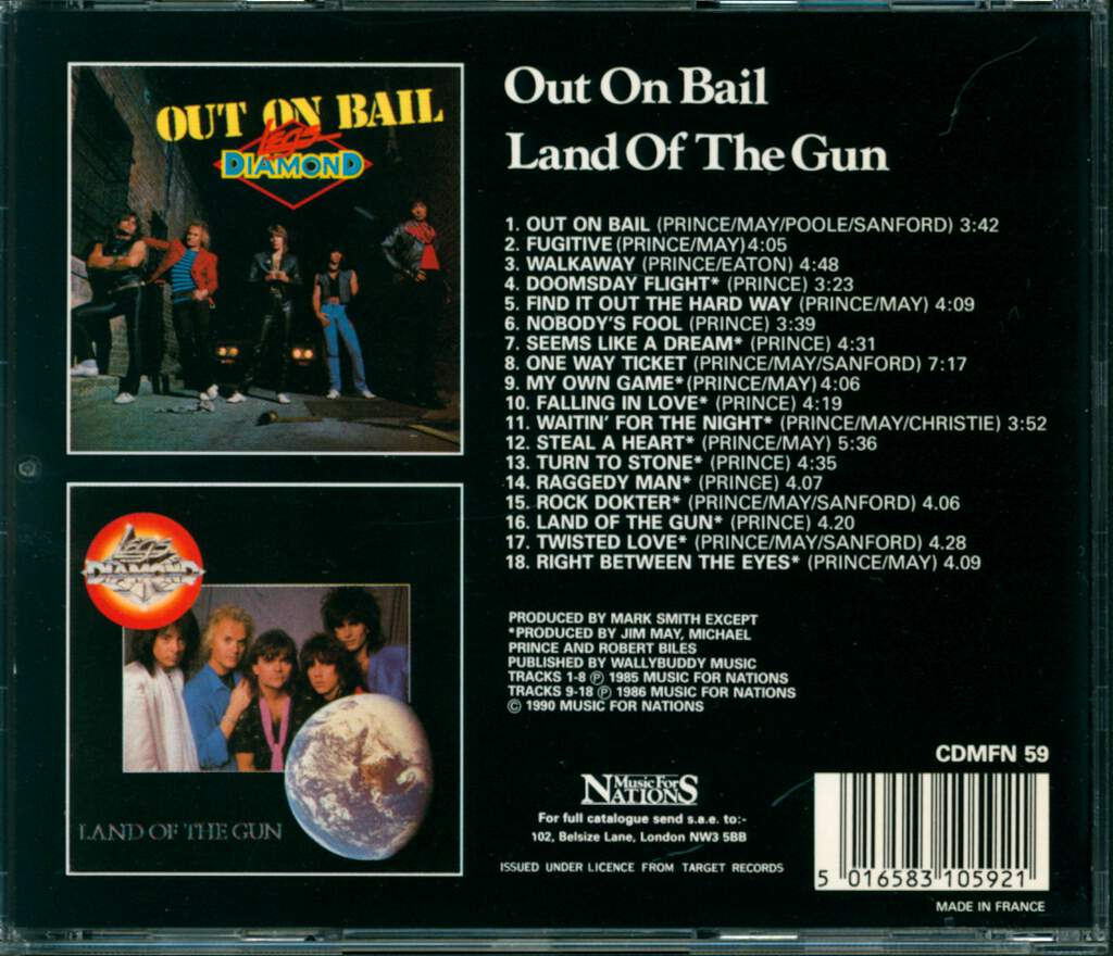 Legs Diamond: Out On Bail/Land Of The Gun, CD
