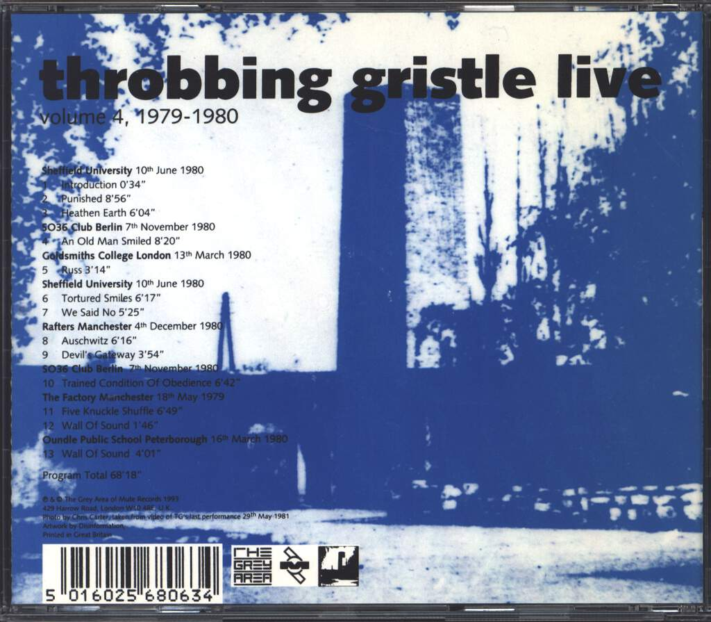 Throbbing Gristle: Live Volume 4, 1979 - 1980, CD