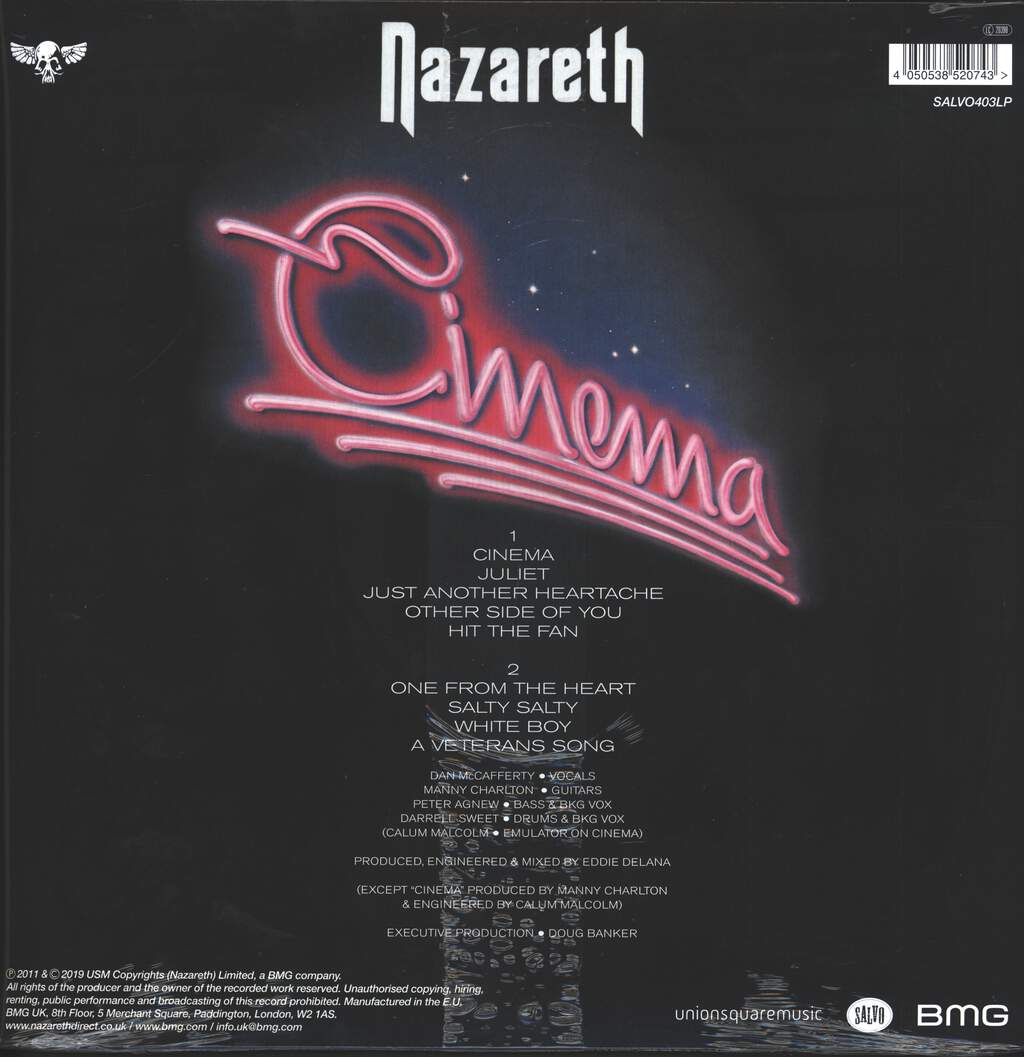 Nazareth: Cinema, LP (Vinyl)