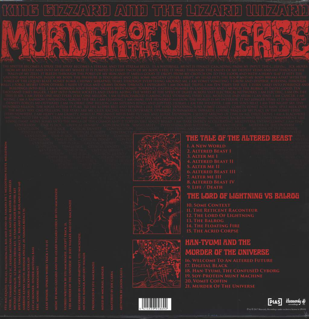 King Gizzard And The Lizard Wizard: Murder Of The Universe, LP (Vinyl)