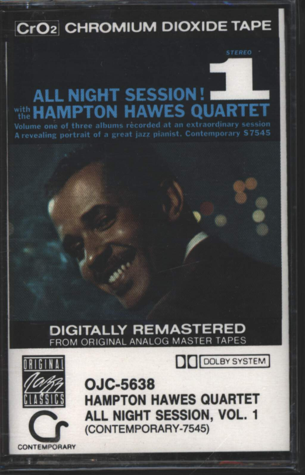 Hampton Hawes Quartet: All Night Session, Vol. 1, Tape