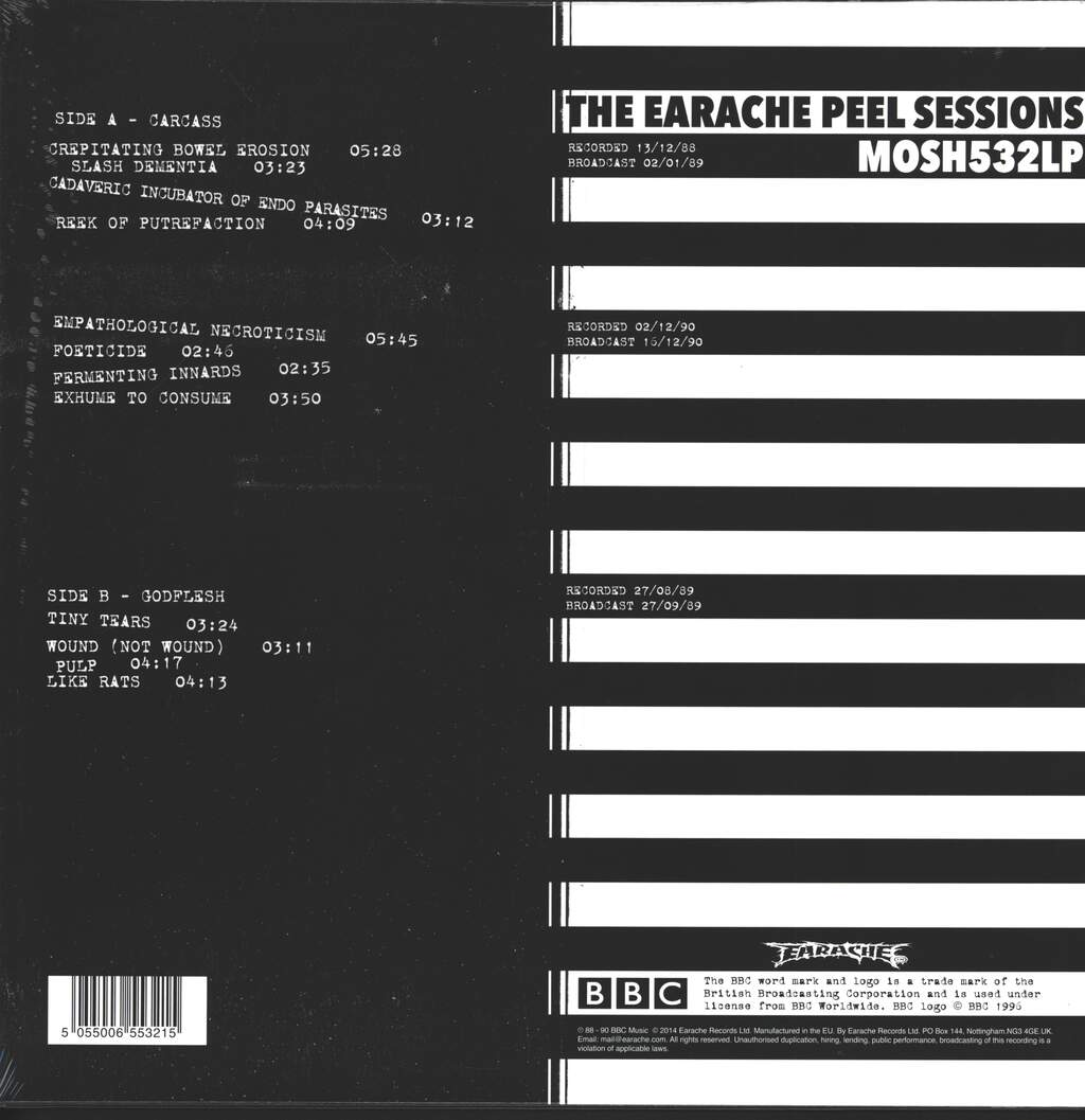 Carcass: Grind Madness At The BBC - The Earache Peel Sessions, LP (Vinyl)