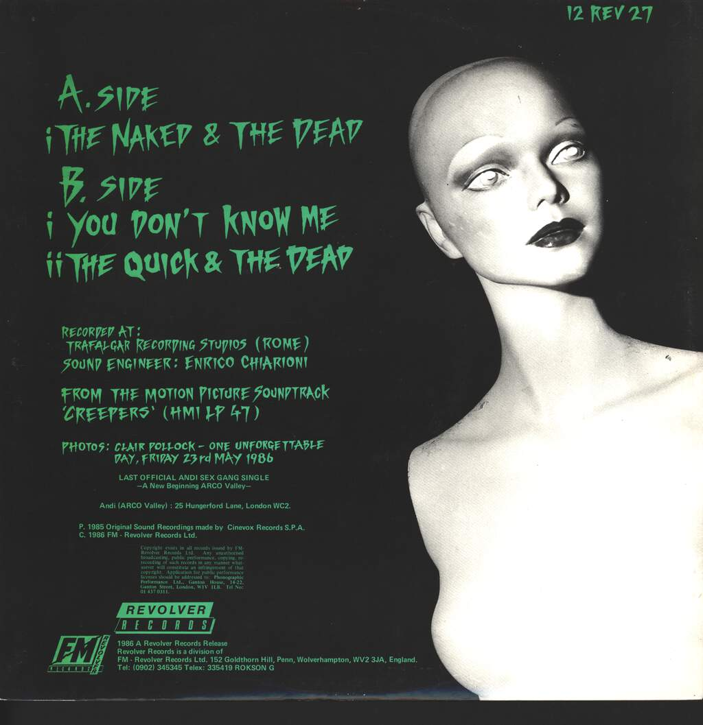 """Andi Sex Gang: The Naked & The Dead, 12"""" Maxi Single (Vinyl)"""