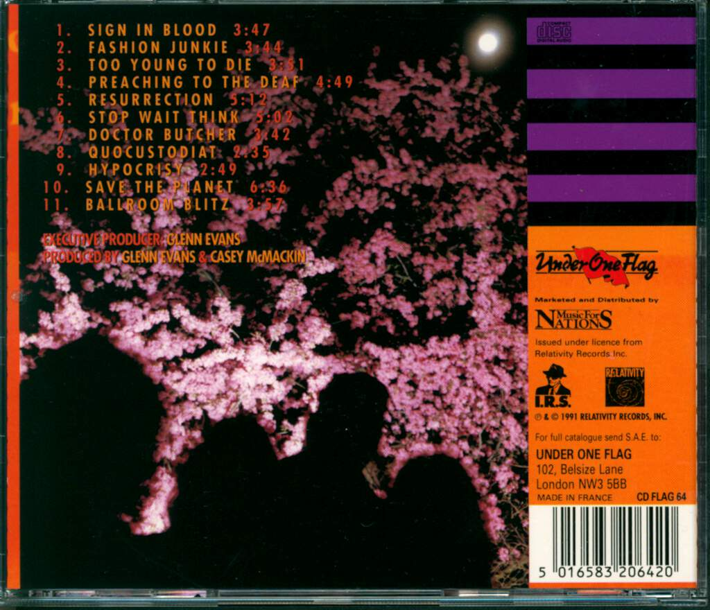 Nuclear Assault: Out Of Order, CD