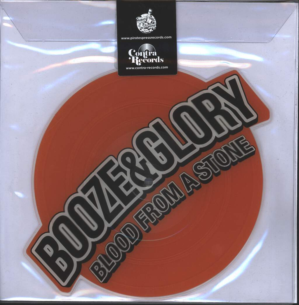 """Booze & Glory: Carry On / Blood From A Stone, 8"""" Vinyl"""