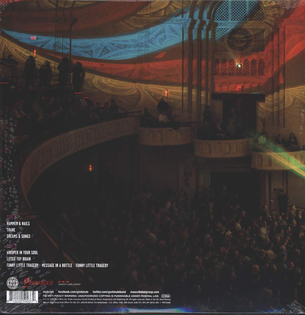 Gov't Mule: Bring On The Music, Live At The Capitol Theatre Vol.3, LP (Vinyl)