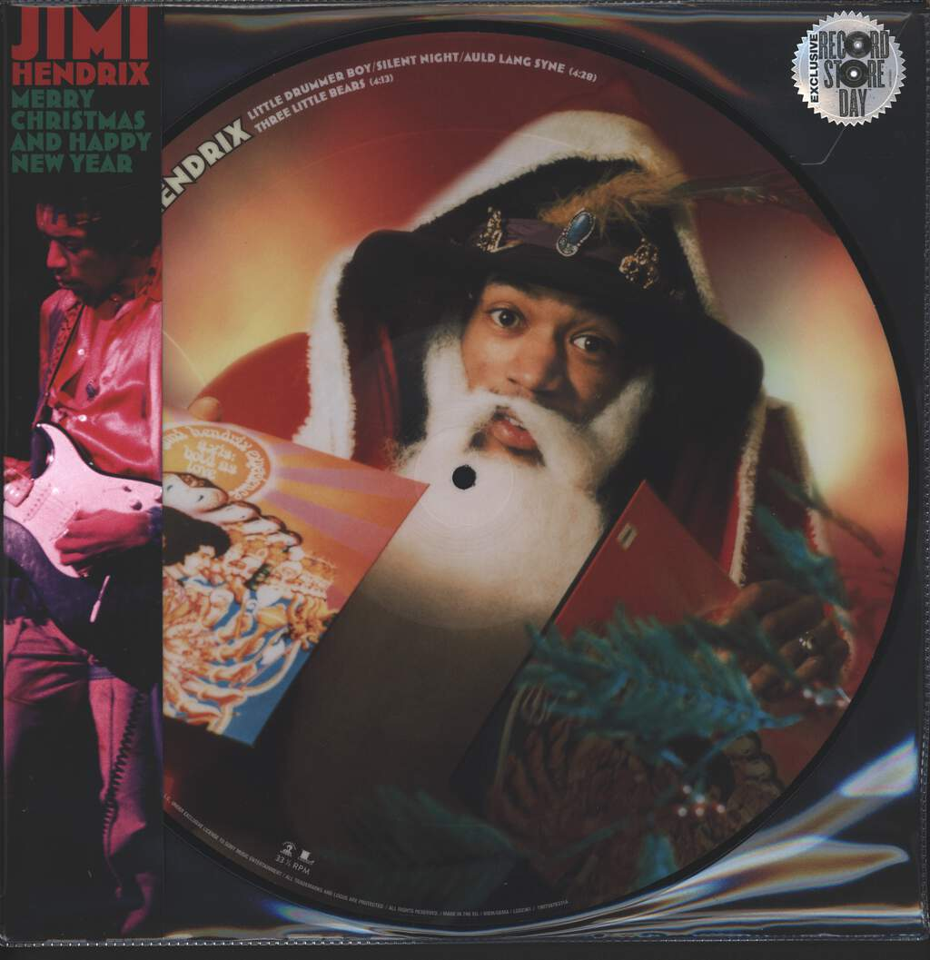 "Jimi Hendrix: Merry Christmas and Happy New Year, 12"" Maxi Single (Vinyl)"