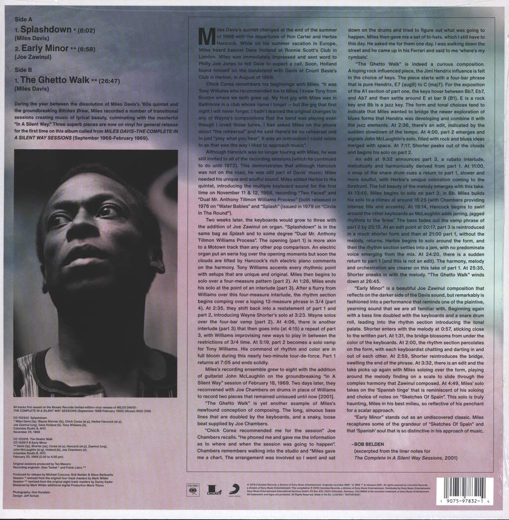 Miles Davis: Early Minor (Rare Miles From The Complete In A Silent Way Sessions), LP (Vinyl)