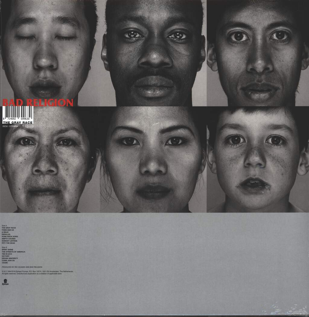Bad Religion: The Gray Race, LP (Vinyl)