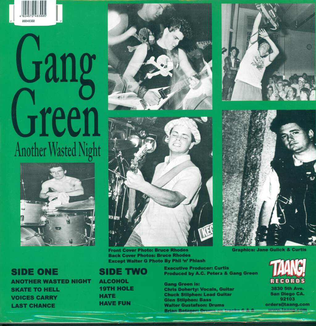 Gang Green: Another Wasted Night, LP (Vinyl)