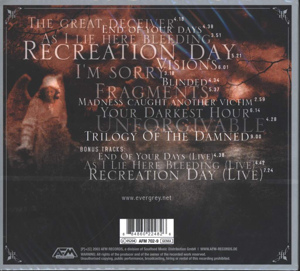 Evergrey: Recreation Day, CD