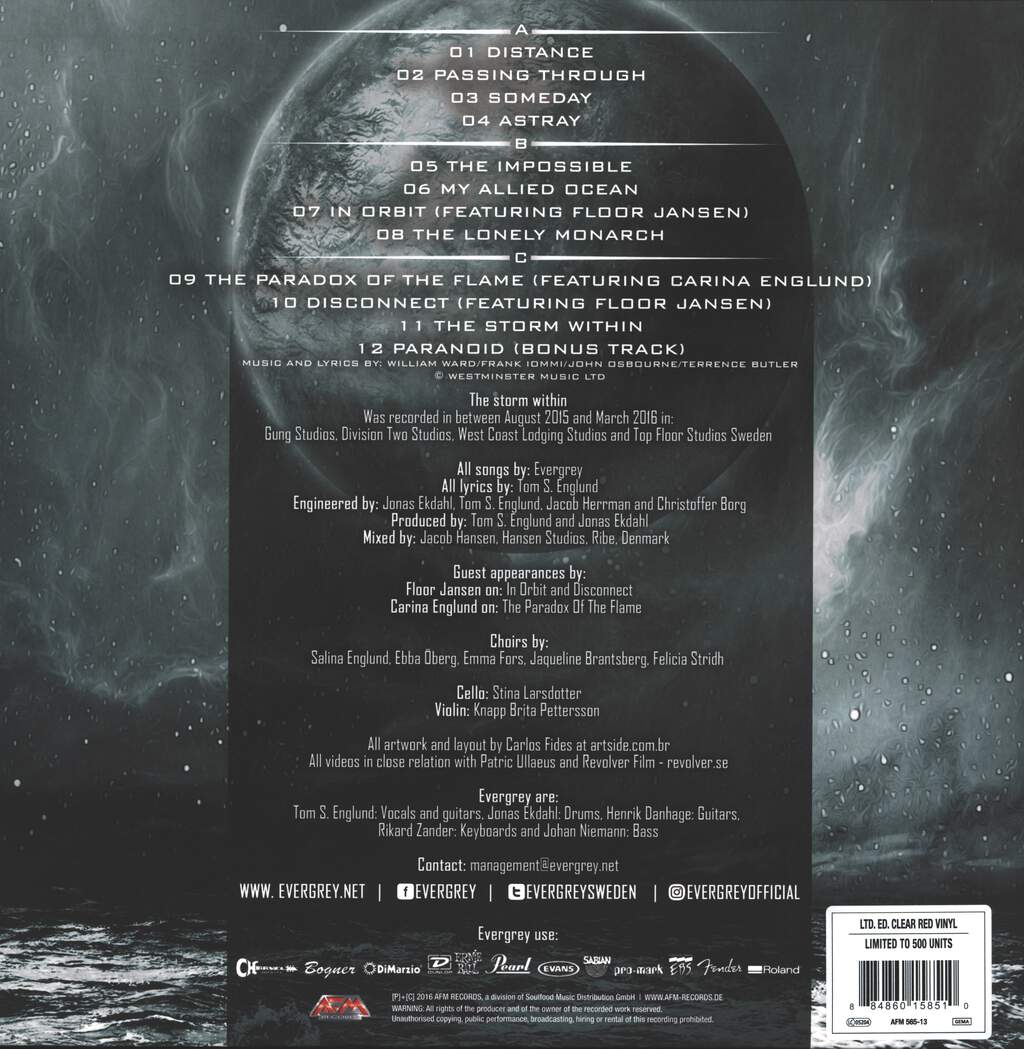 Evergrey: The Storm Within, 2×LP (Vinyl)