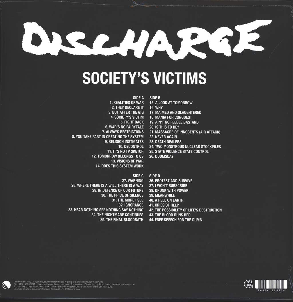 Discharge: Society's Victims, Volume 1, 2×LP (Vinyl)
