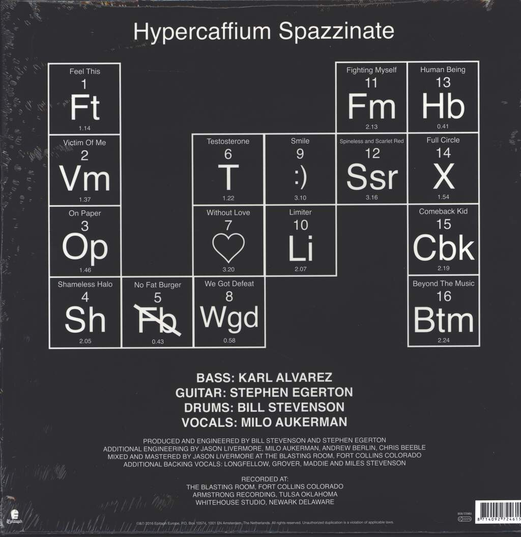 Descendents: Hypercaffium Spazzinate, LP (Vinyl)