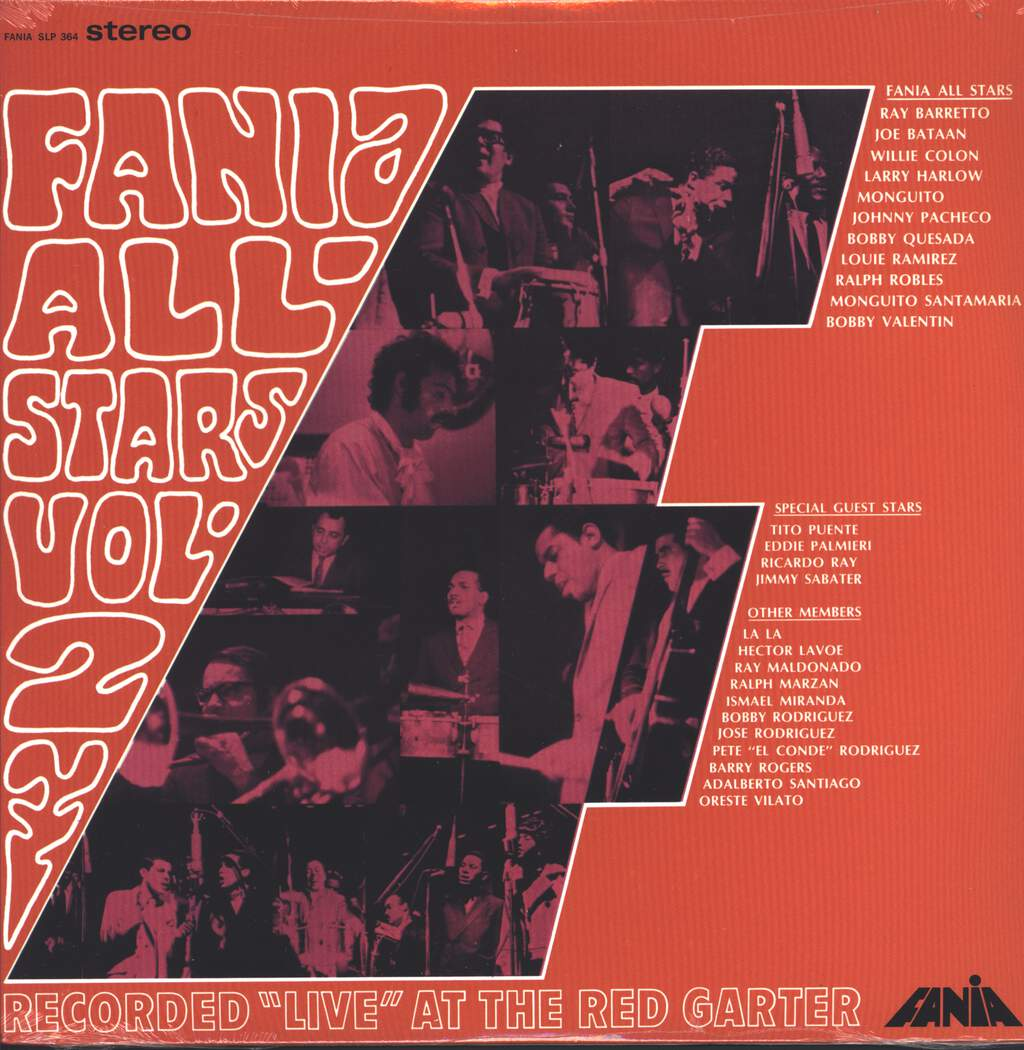 "Fania all Stars: Vol. 2 Recorded ""Live"" At The Red Garter, LP (Vinyl)"