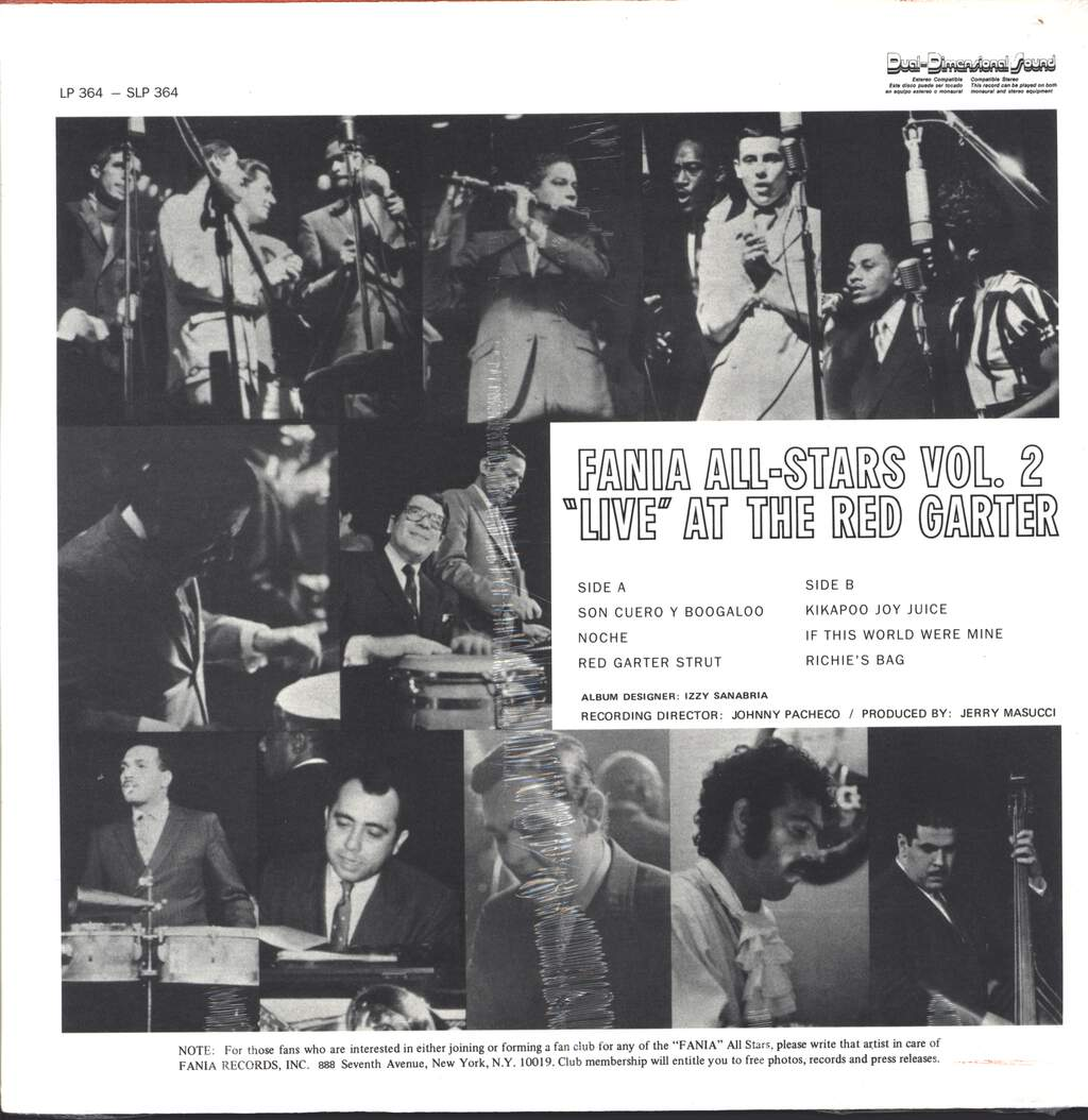 """Fania all Stars: Vol. 2 Recorded """"Live"""" At The Red Garter, LP (Vinyl)"""