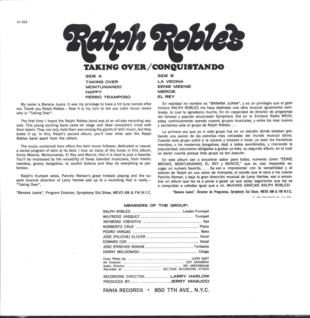 Ralph Robles: Taking Over / Conquistando, LP (Vinyl)