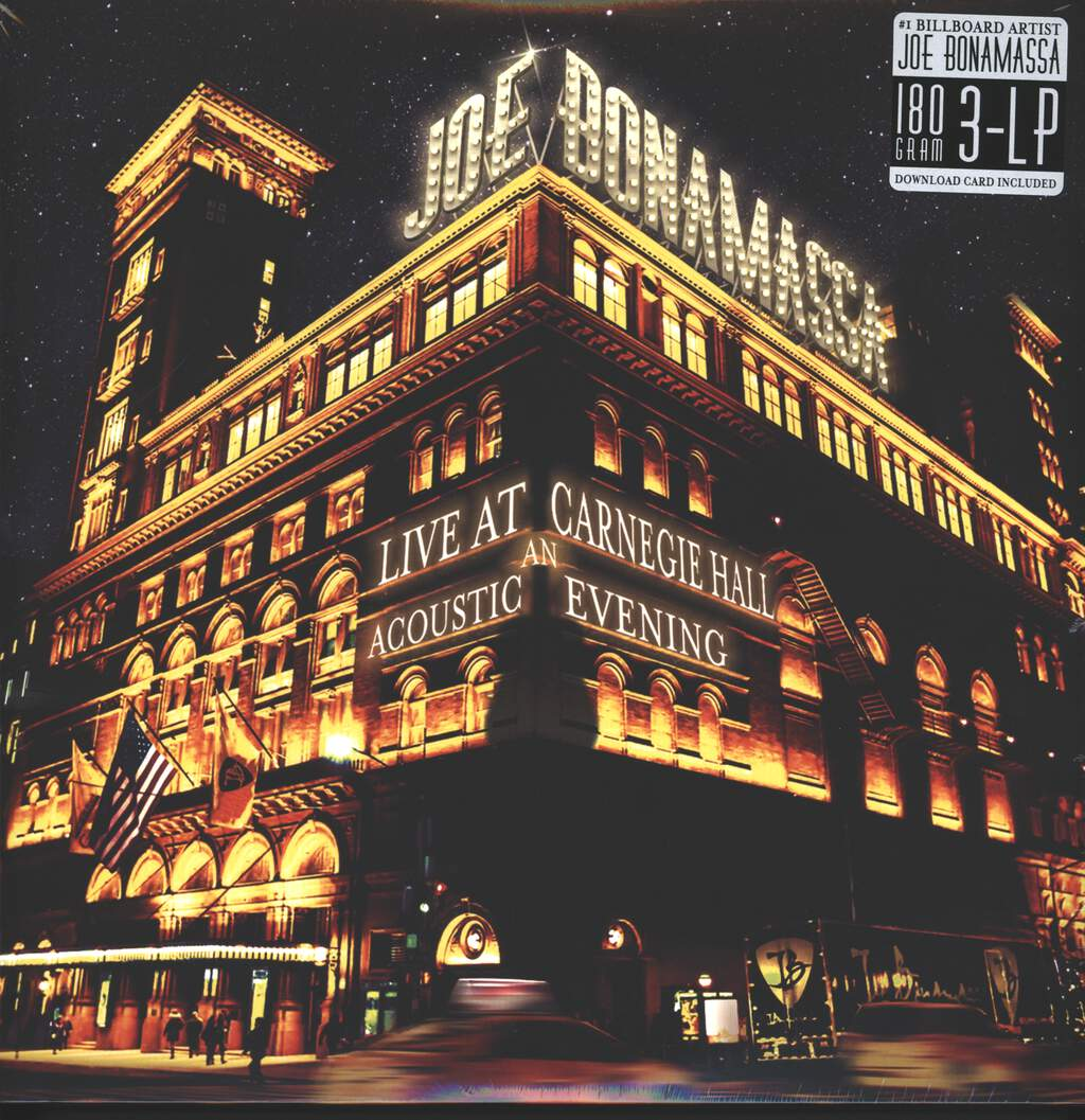 Joe Bonamassa: Live At Carnegie Hall – An Acoustic Evening, 3×LP (Vinyl)