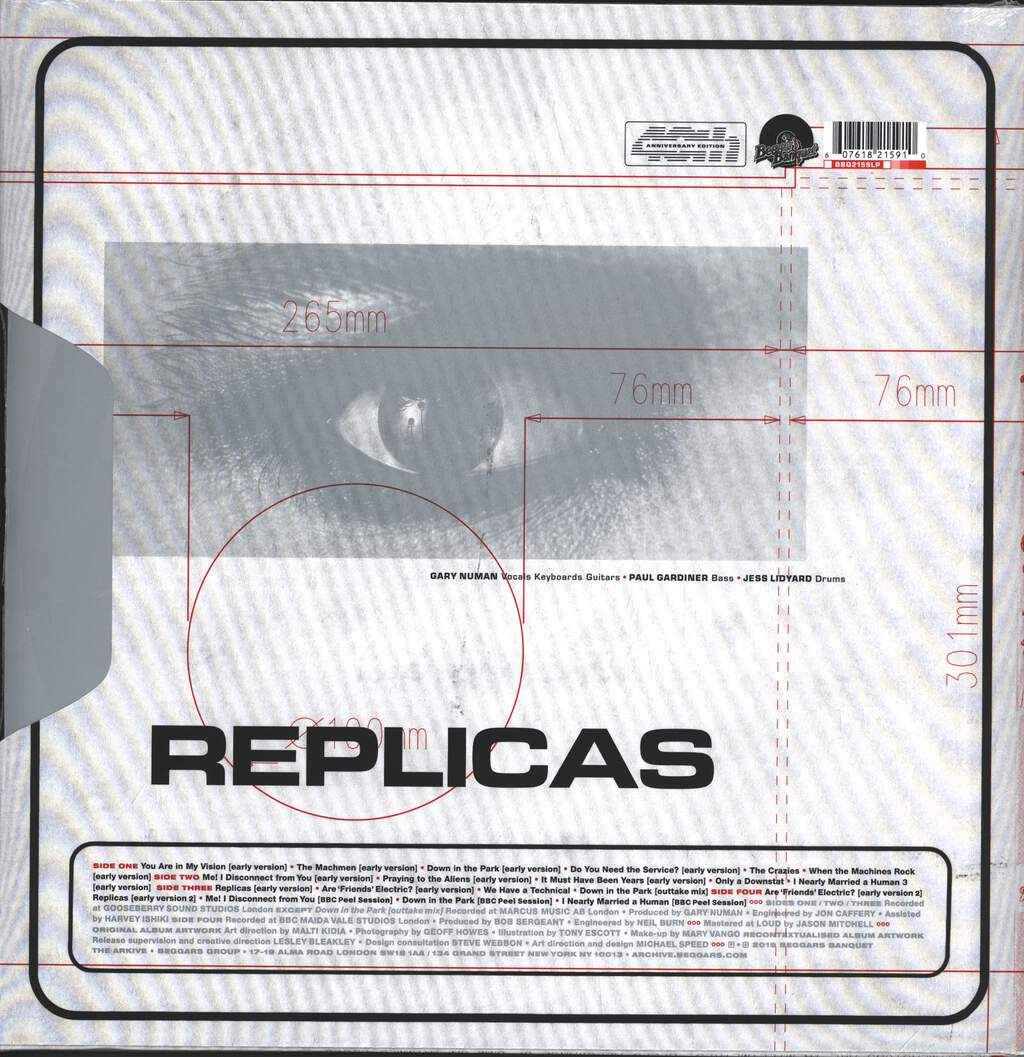 Gary Numan: Replicas (The First Recordings), 2×LP (Vinyl)