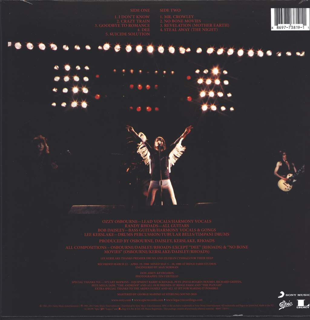 Ozzy Osbourne: Blizzard Of Ozz, LP (Vinyl)